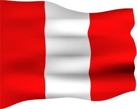 3d flag of Peru  photo