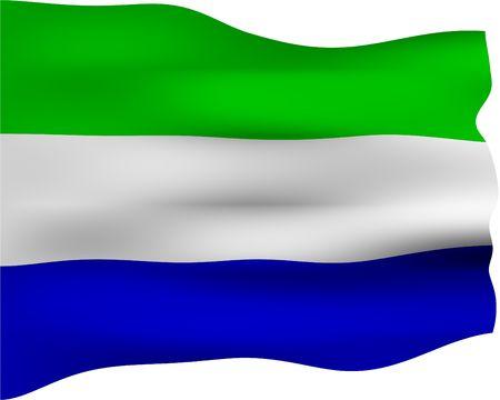 sierra: 3d flag of Sierra Leone