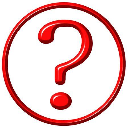 framed: 3d framed question mark