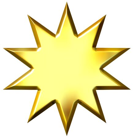 shinning: 3d golden 10 point star