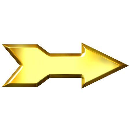 shinning: 3d golden arrow  Stock Photo