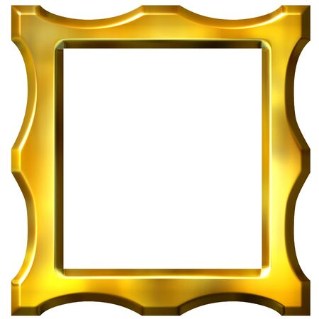 shinning: 3d golden frame