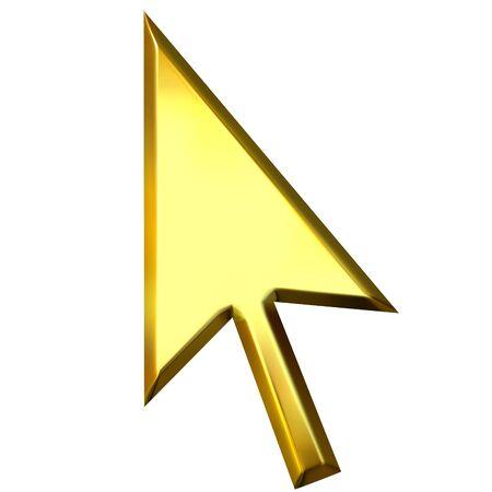shinning: 3d golden mouse pointer