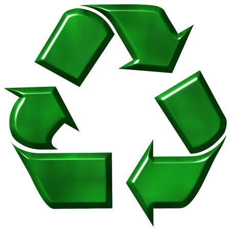 dispose: Recycling symbol