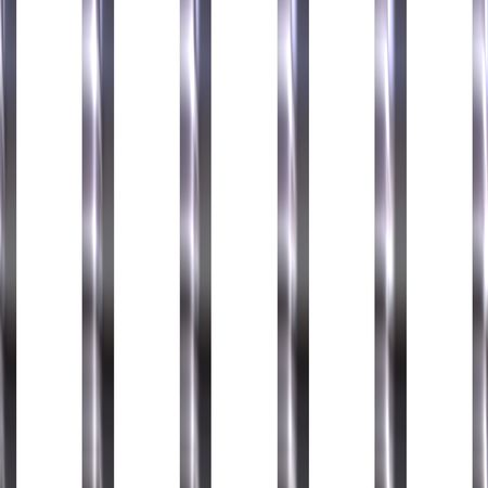 Shinning jail bars  Stock Photo