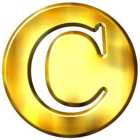 shinning: 3d golden letter C