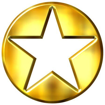 shinning: 3d golden framed star