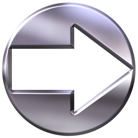 shinning: 3d silver framed arrow