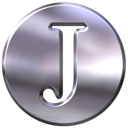 shinning: 3d silver letter J