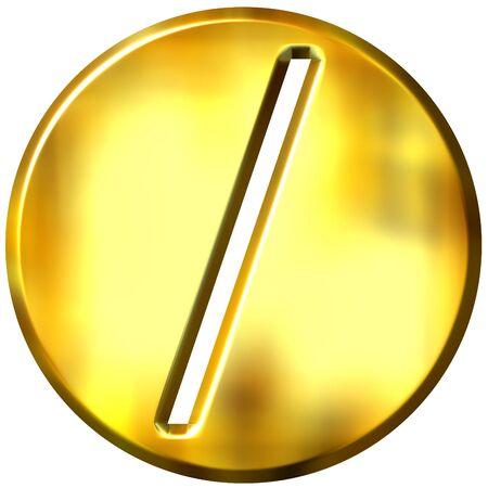 division: 3d golden framed division symbol  Stock Photo