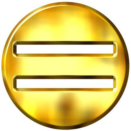 3d golden framed equality symbol Stock Photo - 3241423