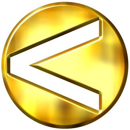 3d golden framed strict inequality symbol representing less or greater if turned arround Stock Photo - 3241424