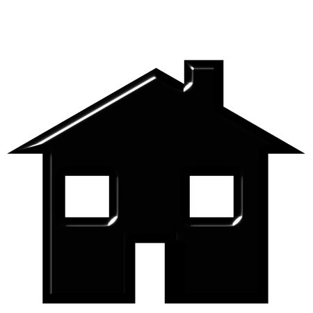 simple logo: 3d house silhouette  Stock Photo