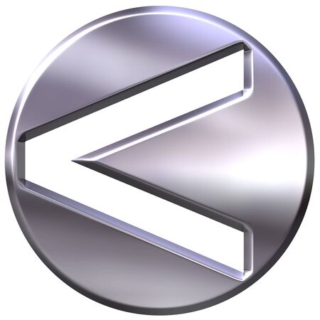 strict: 3d silver framed strict inequality symbol representing less or greater if turned around