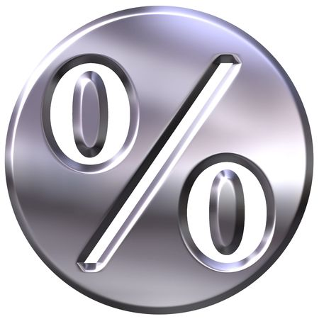shinning: 3d silver framed percentage symbol  Stock Photo