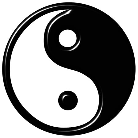 chinese philosophy: 3d tao symbol