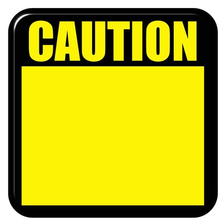 hazard sign: 3d caution sign