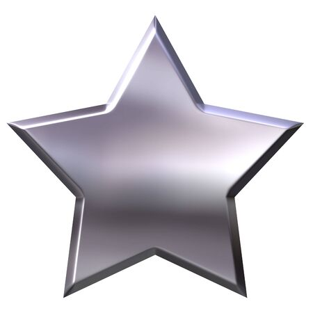 3d silver star  Stock Photo - 3437446