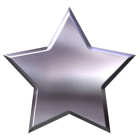 shinning: 3d silver star