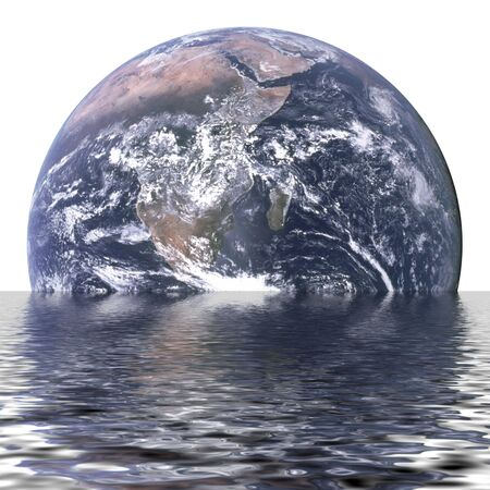 Planet earth is sinking due to global warming Stock Photo - 3437457