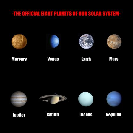 The official eight planets of our solar system  photo