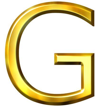 shinning: 3d golden letter G  Stock Photo