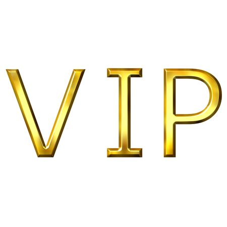 3d golden VIP Stock Photo - 3595478