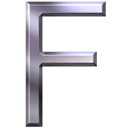 shinning: 3d silver letter F