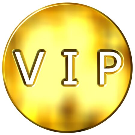 3d golden framed VIP  Stock Photo - 3690369