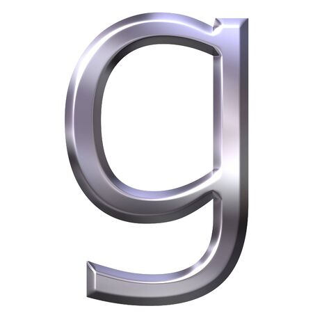 shinning: 3d silver letter g  Stock Photo