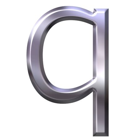 shinning: 3d silver letter q  Stock Photo