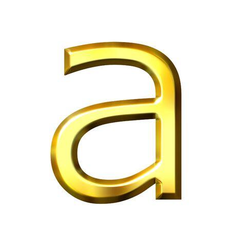 shinning: 3d golden letter a