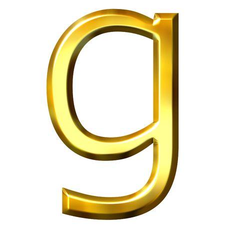 shinning: 3d golden letter g
