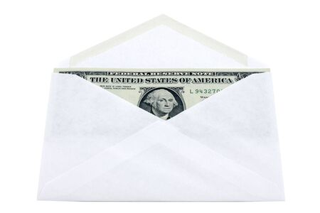 Envelope with dollars  photo