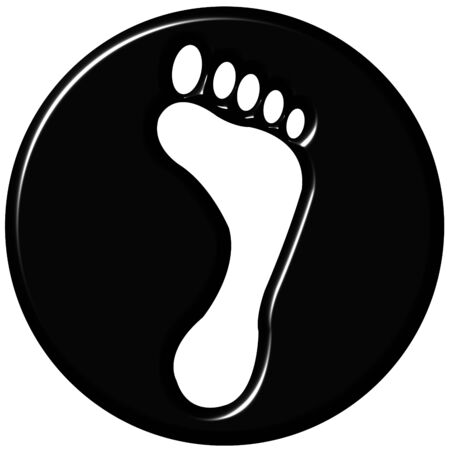 Black foot concept for rejection, denial, and getting rid of someone photo