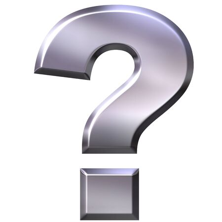 ag: 3d silver question mark  Stock Photo