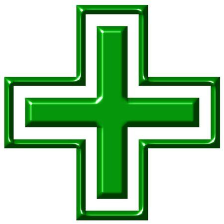 3d pharmacy cross  photo