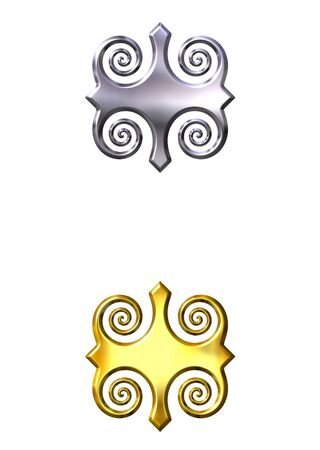 shinning: 3d golden and silver ornaments
