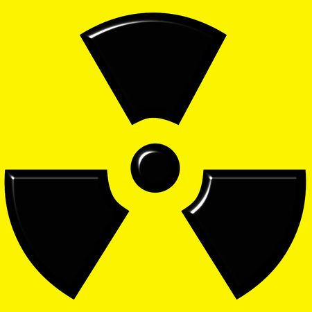 oxidising: 3d radioactive warning sign  Stock Photo