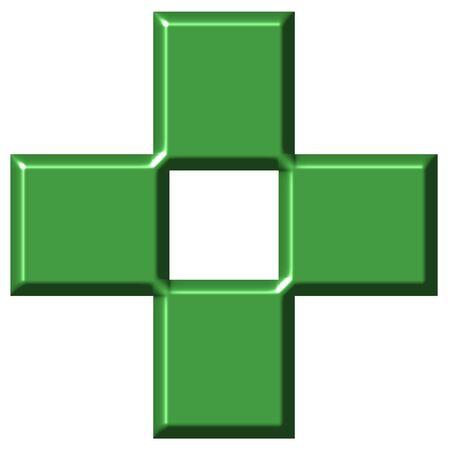 3d pharmacy cross  Stock Photo - 3795477