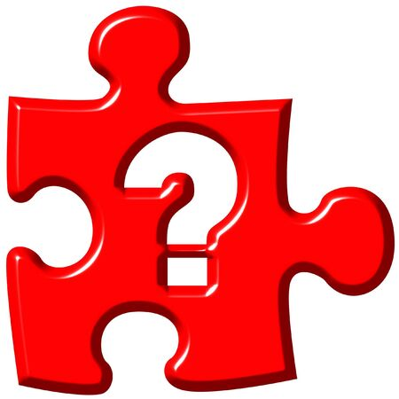 which: Question mark puzzle piece  Stock Photo