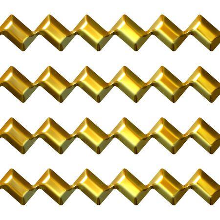 zag: 3d golden zig zag texture