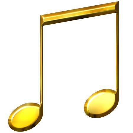 shinning: 3d golden eighth notes