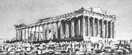 deesse grecque: Parth�non, le 20 Drachmai 1940 de billets de banque de la Gr�ce. Temple de la d�esse grecque Ath�na, construit au 5�me si�cle avant JC sur l'Acropole d'Ath�nes.