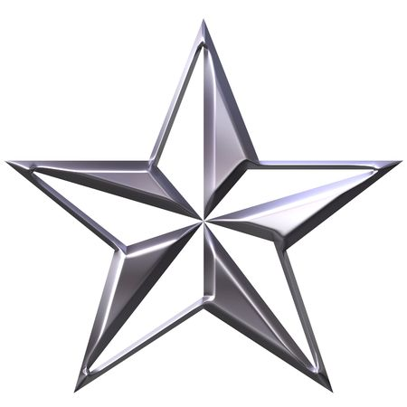 3d silver star Stock Photo - 3924557