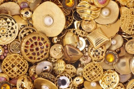 craft button: Golden buttons
