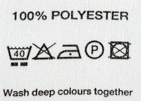 Polyester-Tuch Label Lizenzfreie Bilder