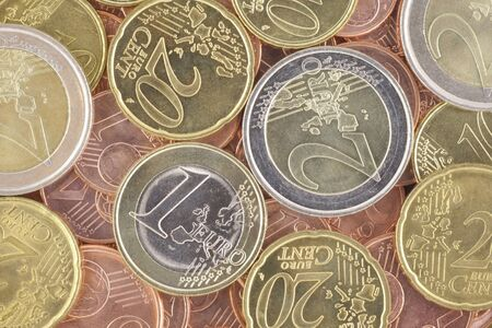 unc: Euro coins Stock Photo