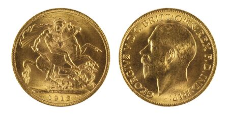 gb pound: Gold sovereign  Stock Photo