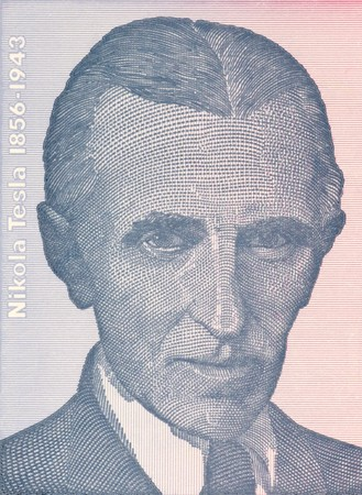 uncirculated: Nicola Tesla on 100 dinars 1994 banknote from Yugoslavia. Best known as the Father of Physics.